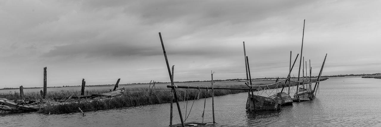 Villaggio di pescatori abbandonato