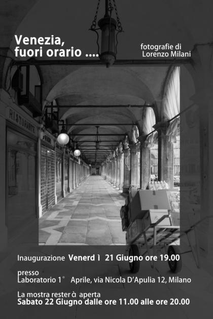 Venezia, fuori orario...., il 21 e 22 giugno 2013
